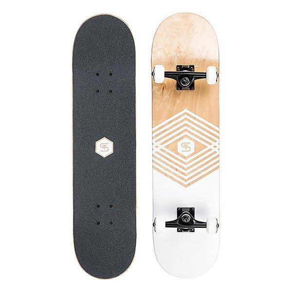 Скейтборд в сборе Quiksilver Street Skateboard 80 WhiteКоллекция скейтбордов в сборе от Quiksilver – это уникальность и яркость в одном комплекте.Эта модель рекомендована начинающим райдерам для ежедневного использования по доступной цене.Стритовое катание станет еще ближе вместе со скейтом от Quiksilver!Характеристики:Сердечник из канадского клена. Черная «шкурка». Подвеска 5,25 TRUCK. Колеса: 52 мм.<br><br>Цвет: черный,коричневый,белый<br>Тип: Скейтборд в сборе<br>Возраст: Взрослый<br>Пол: Мужской