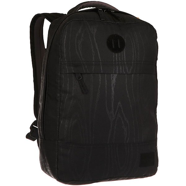 Рюкзак городской Nixon Beacons Backpack WoodgrainКачественные и функциональные рюкзаки в оригинальном дизайне. Nixon путешествует по миру, проверяя рюкзаки на прочность. А вы готовы подняться на новый уровень?Технические характеристики: Материал - полиэстер 600D.Подкладка с тиснением из нейлона 210D.Мягкие лямки и плотная спинка.Карман для ноутбука.Органайзер.Передний карман для аксессуаров на молнии.Нашивка с логотипом.<br><br>Цвет: черный,серый<br>Тип: Рюкзак городской<br>Возраст: Взрослый
