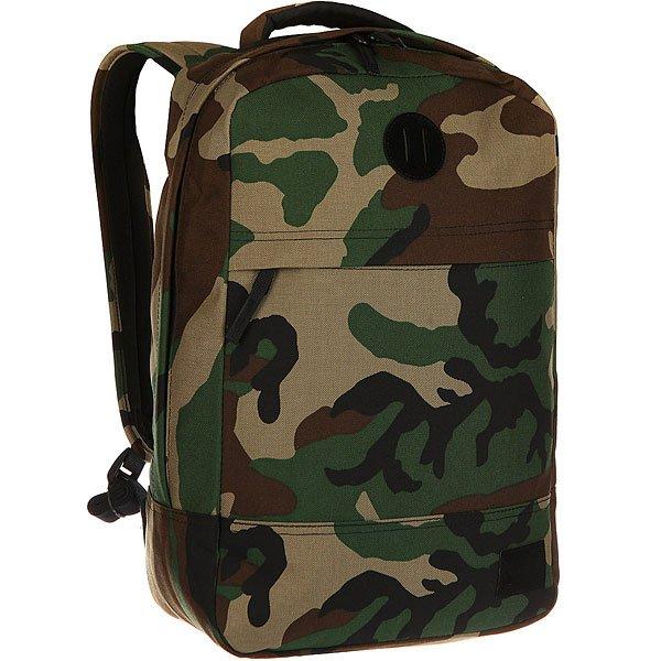 Рюкзак городской Nixon Beacons Backpack Woodland CamoКачественные и функциональные рюкзаки в оригинальном дизайне. Nixon путешествует по миру, проверяя рюкзаки на прочность. А вы готовы подняться на новый уровень?Технические характеристики: Материал - полиэстер 600D.Подкладка с тиснением из нейлона 210D.Мягкие лямки и плотная спинка.Карман для ноутбука.Органайзер.Передний карман для аксессуаров на молнии.Нашивка с логотипом.<br><br>Цвет: зеленый,бежевый,коричневый,черный<br>Тип: Рюкзак городской<br>Возраст: Взрослый