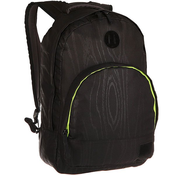 Рюкзак городской Nixon Grandview Backpack WoodgrainКачественный и функциональный рюкзак в удобном дизайне. Nixon лично проверяет качество сумок и рюкзаков путешествуя по миру. Будьте готовы перейти на новый уровень!Технические характеристики: Полиэстер 600D.Подкладка из нейлона 210D с тиснением.Большое основное отделение на молнии.Подвес для крепления дополнительного груза.Передний карман на молнии с внутренним органайзером, включая карман для часов.Внутренний карман для ноутбука.Мягкая и усиленная спинка.Мягкие лямки.Нашивка с логотипом.<br><br>Цвет: черный,серый<br>Тип: Рюкзак городской<br>Возраст: Взрослый