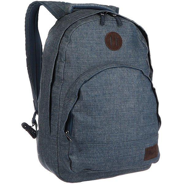 Рюкзак городской Nixon Grandview Backpack DenimКачественный и функциональный рюкзак в удобном дизайне. Nixon лично проверяет качество сумок и рюкзаков путешествуя по миру. Будьте готовы перейти на новый уровень!Технические характеристики: Полиэстер 600D.Подкладка из нейлона 210D с тиснением.Большое основное отделение на молнии.Подвес для крепления дополнительного груза.Передний карман на молнии с внутренним органайзером, включая карман для часов.Внутренний карман для ноутбука.Мягкая и усиленная спинка.Мягкие лямки.Нашивка с логотипом.<br><br>Цвет: серый,синий<br>Тип: Рюкзак городской<br>Возраст: Взрослый