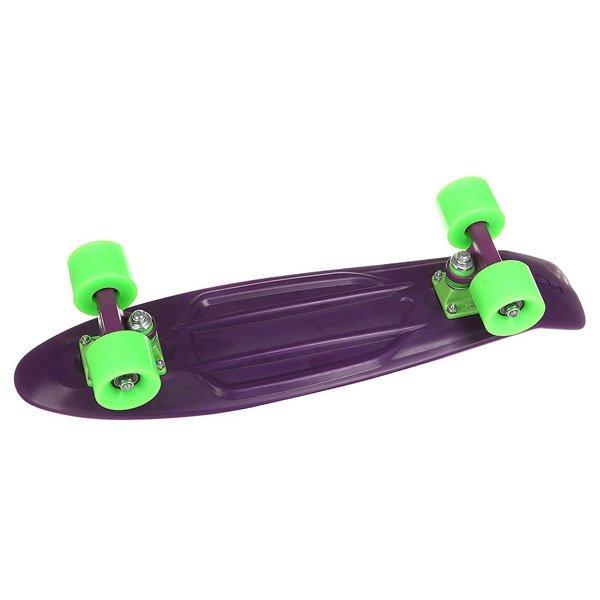 Скейт мини круизер Penny Original 22 Phantom 5.75 x 22 (55.9 см)Классический скейтборд в обновленном стильном дизайне для начинающих и продвинутых райдеров. Усиленная подвеска с порошковым напылением, качественные и долговечные подшипники от Penny и гладкие пластиковые колеса — все лучшее в одном пенниборде!Технические характеристики: Длина - 56 см, ширина - 15,2 см.Вес - 2,7 кг.Подвеска Penny Custom 3? из алюминия.Колеса из полиуретана 59 мм 78А.Подшипники Penny Abec 7.Вес райдера до 110 кг.<br><br>Цвет: фиолетовый<br>Тип: Скейт мини круизер<br>Возраст: Взрослый<br>Пол: Мужской