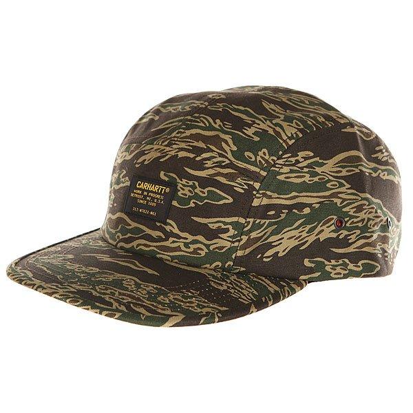 Бейсболка пятипанелька Carhartt WIP Wip Military Cap Camo Tiger Laurel футболка carhartt wip i018486 white camo tiger laurel