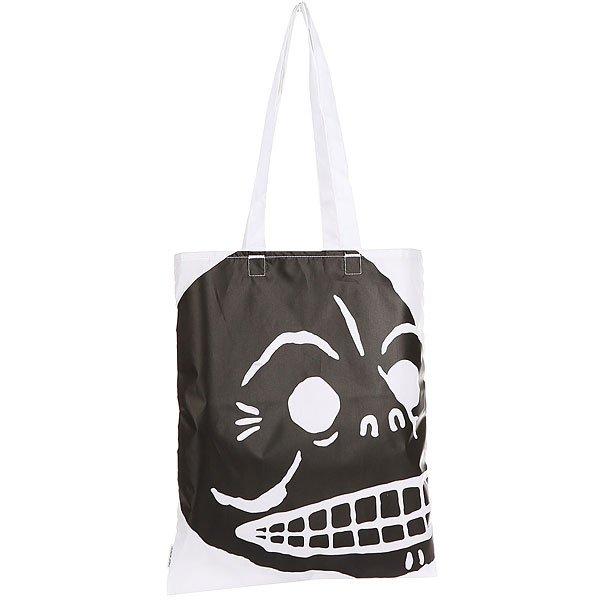Сумка женская Cheap Monday Modern Tote Cover Skull White<br><br>Цвет: черный,белый<br>Тип: Сумка<br>Возраст: Взрослый<br>Пол: Женский
