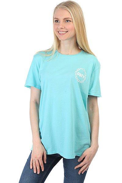 Футболка женская Obey Obey Jumble Chain Turquoise