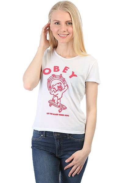 Футболка женская Obey Let The Good Times Roll White