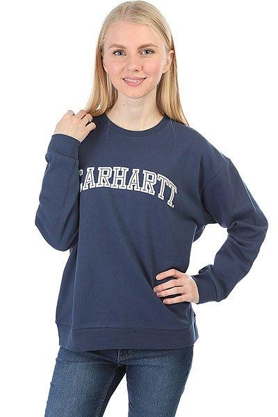 цена  Толстовка классическая женская Carhartt WIP Yale Sweatshirt Blue/White  онлайн в 2017 году