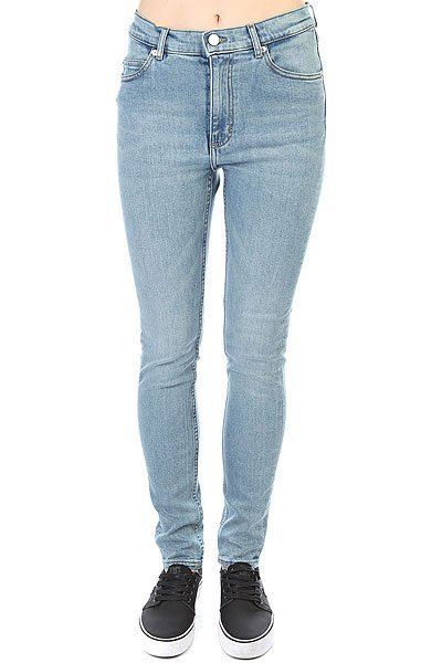 Джинсы узкие женские Cheap Monday Second Skin Stonewash Blue