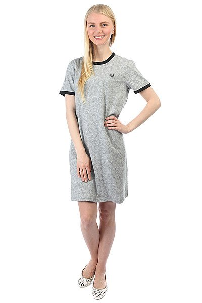 Платье женское Fred Perry Ringer T-shirt Dress Grey поло детское fred perry my first fred perry shirt black