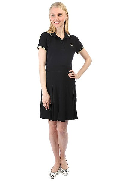 Платье женское Fred Perry Pique Tennis Dress Black fred perry ремень fred perry woven cord belt black