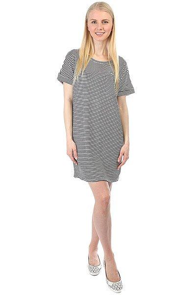 Платье женское Obey Right Above Dress Dusty Navy Stripe<br><br>Цвет: белый,синий<br>Тип: Платье<br>Возраст: Взрослый<br>Пол: Женский