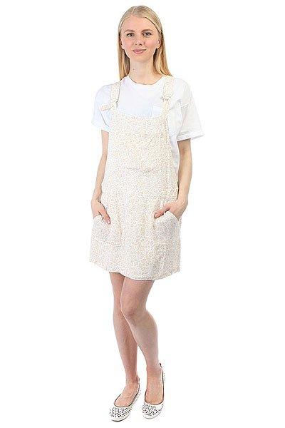 Платье женское Obey Jinx Jumper Dress Fog Multi<br><br>Цвет: бежевый<br>Тип: Платье<br>Возраст: Взрослый<br>Пол: Женский