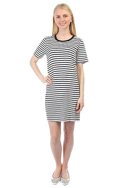 Платье женское Obey Jinx Jumper Dress Black<br><br>Цвет: черный,белый<br>Тип: Платье<br>Возраст: Взрослый<br>Пол: Женский