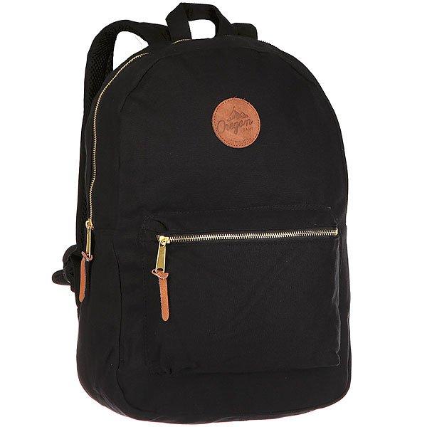 Рюкзак городской Oregon Camp Southwoods BlackРюкзак от бренда Oregon Camp, выполненный из полиэстеровой ткани.Характеристики:Классическая форма с вместительным основным отделением и накладным карманом. Внутренняя часть с контрастной отделкой и карманом для ноутбука. Рюкзак выполнен в комбинированной расцветке с логотипом бренда и контрастной молнией.<br><br>Цвет: черный<br>Тип: Рюкзак городской<br>Возраст: Взрослый