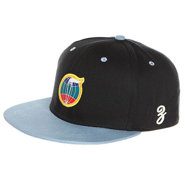 Бейсболка с прямым козырьком Запорожец Fakel Navy<br><br>Цвет: черный,голубой<br>Тип: Бейсболка с прямым козырьком<br>Возраст: Взрослый