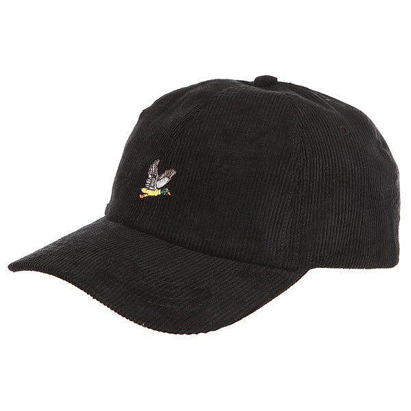 Бейсболка классическая Запорожец Corduory Cap Black