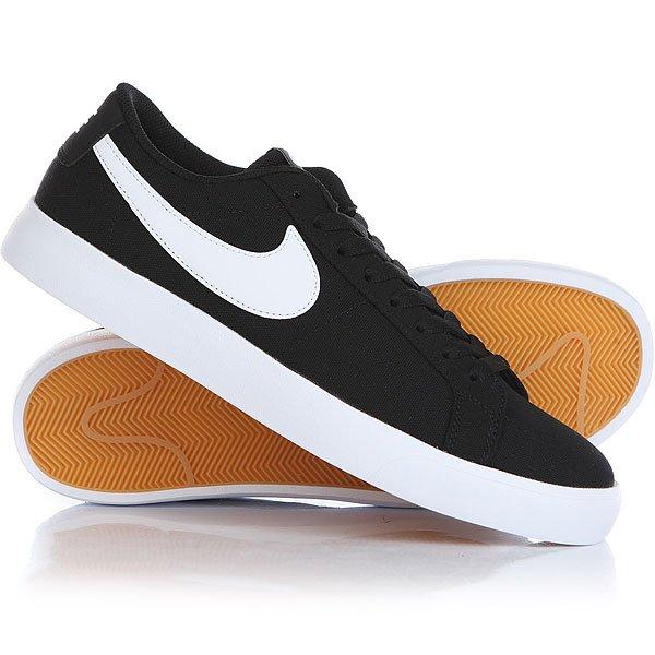 Кеды кроссовки низкие Nike Sb Blazer Vapor TXT Black/White nike sb кеды nike sb zoom stefan janoski leather черный антрацитовый черный 12