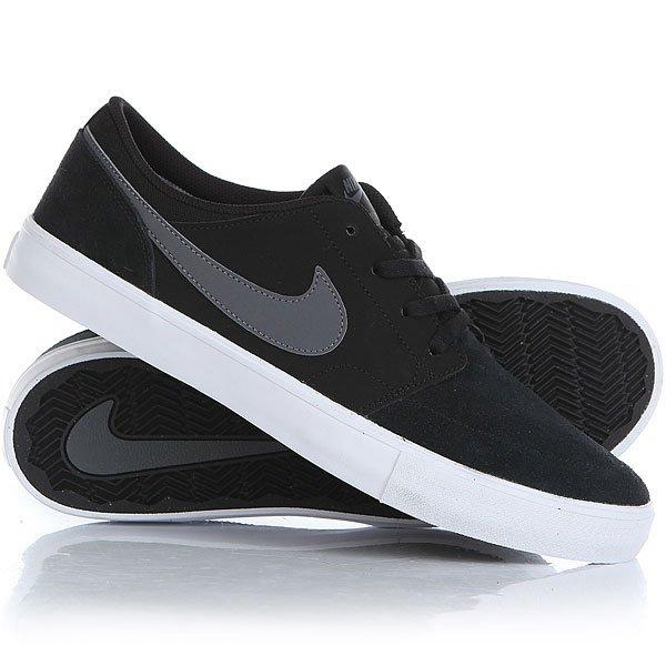 Кеды кроссовки низкие Nike Sb Portmore II Solar Black/Dark Grey nike кеды мужские nike solarsoft portmore ii