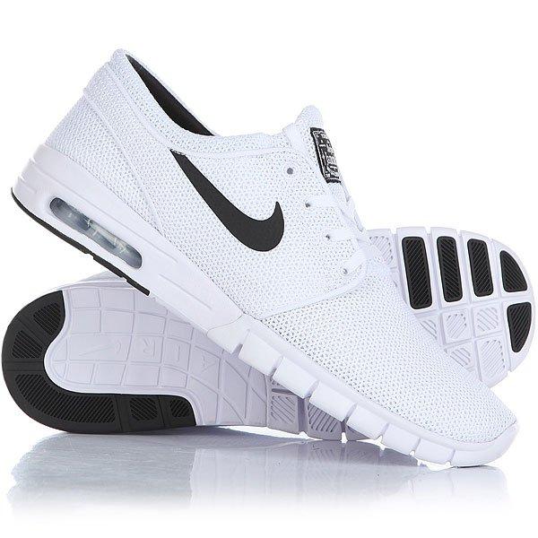 Кроссовки Nike Stefan Janoski Max White/Black nike sb кеды nike sb zoom stefan janoski leather черный антрацитовый черный 12