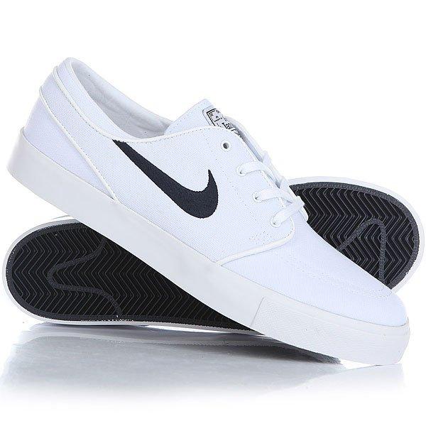 Кеды кроссовки низкие Nike Zoom Stefan Janoski Cnvs WhiteЛегендарная модель Nike Zoom Stefan Janoski уже стала классикой и завоевала любовь огромного числа скейтеров. Прочный текстильный верх будет устойчив к износу, цепкий протектор обеспечит необходимое сцепление с доской, а технология Zoom подарит впечатляющую амортизацию. Отличная модель, которая также будет радовать Вас и в повседневной носке.Характеристики:Прочный текстильный верх.Модуль Zoom Air в стельке для амортизации. Технология амортизации Nike Zoom. Гибкая вулканизированная подошва с цепким протектором ёлочка.Тонкий текстильный язычок с плотным прилеганием. Вышитый фирменный логотип сбоку.Нашивка с фирменным логотипом на язычке. Перфорация для вентиляции в области носа.<br><br>Цвет: белый<br>Тип: Кеды низкие<br>Возраст: Взрослый<br>Пол: Мужской