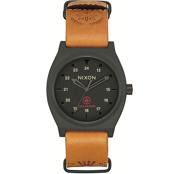 Кварцевые часы Nixon Time Teller Black/Tan Taka часы nixon corporal ss matte black industrial green