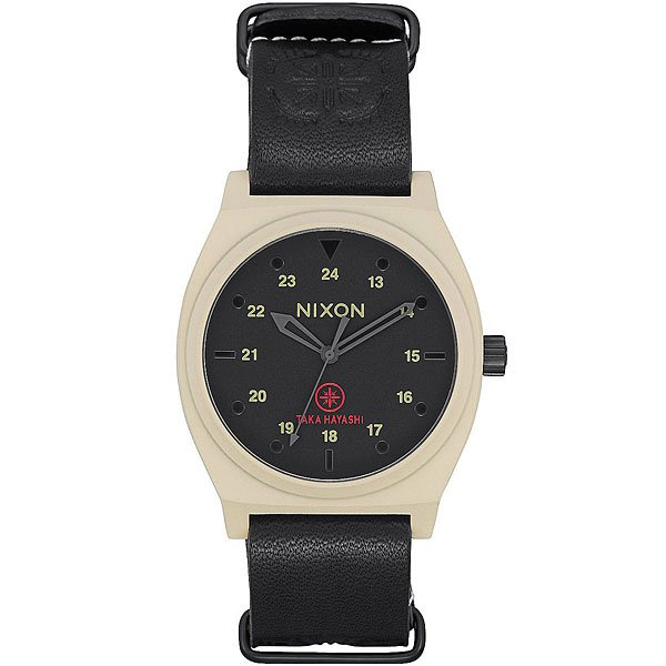 Кварцевые часы Nixon Time Teller Bone/Black Taka часы nixon corporal ss all black