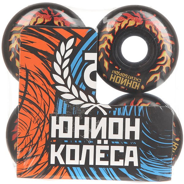 Колеса для скейтборда для скейтборда Юнион Fire Ф3 Black/Orange 103A 52 mmДиаметр: 52 mm    Жесткость: 103A    Цена указана за комплект из 4-х колес<br><br>Цвет: черный,оранжевый<br>Тип: Колеса для скейтборда