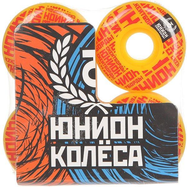 Колеса для скейтборда для скейтборда Юнион Mosaic Ф2 Yellow/Red 100A 51 mmДиаметр: 51 mm    Жесткость: 100A    Цена указана за комплект из 4-х колес<br><br>Цвет: желтый,красный<br>Тип: Колеса для скейтборда