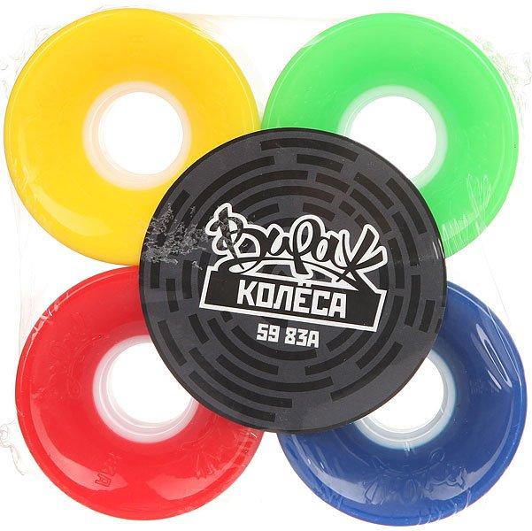 Колеса для скейтборда для лонгборда Вираж 83A 59 mm GammaДиаметр: 59 mm    Жесткость: 83A    Цена указана за комплект из 4-х колес<br><br>Цвет: красный,зеленый,желтый,синий<br>Тип: Колеса для лонгборда