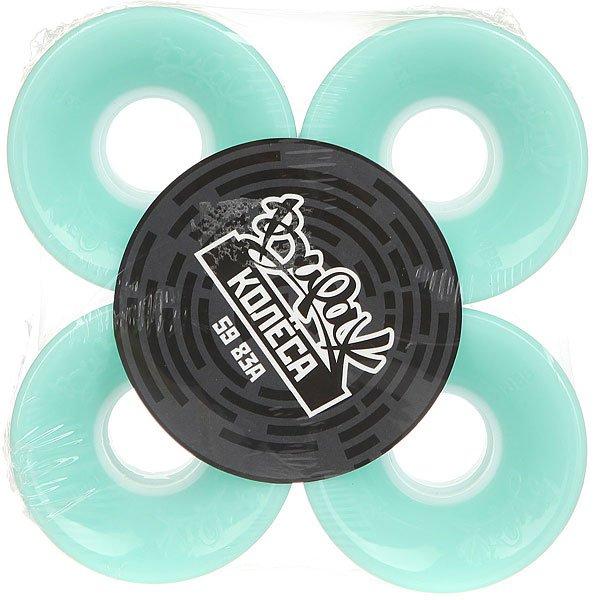 Колеса для скейтборда для лонгборда Вираж 83A 59 mm MintДиаметр: 59 mm    Жесткость: 83A    Цена указана за комплект из 4-х колес<br><br>Цвет: голубой<br>Тип: Колеса для лонгборда