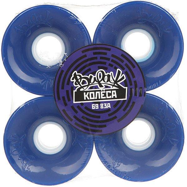 Колеса для скейтборда для лонгборда Вираж Blue 83A 69 mm шкурка для скейтборда для лонгборда пластборд sea grip 22 5 purple beige