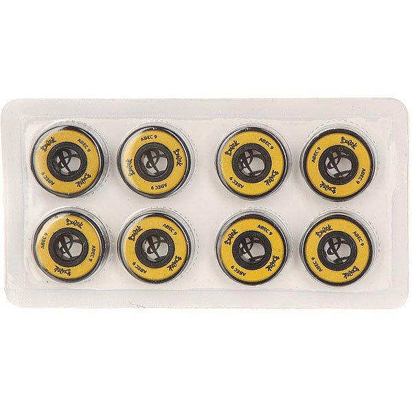Подшипники для скейтборда Вираж Yellow/BlackCовременные подшипники для скейтборда Вираж  класса ABEC 9<br><br>Цвет: желтый,черный<br>Тип: Подшипники