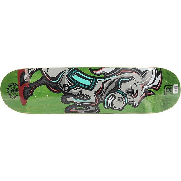 Дека для скейтборда для скейтборда Юнион Horse Green 31.5 x 8 (20.3 см)Ширина деки: 8 (20.3 см)    Длина деки: 31.5 (80 см)    Количество слоев: 7  При покупке сейчас Вы получите подарок: Шкурка для скейтборда Юнион Logo Grip Black (One Size)<br><br>Цвет: зеленый,серый<br>Тип: Дека для скейтборда