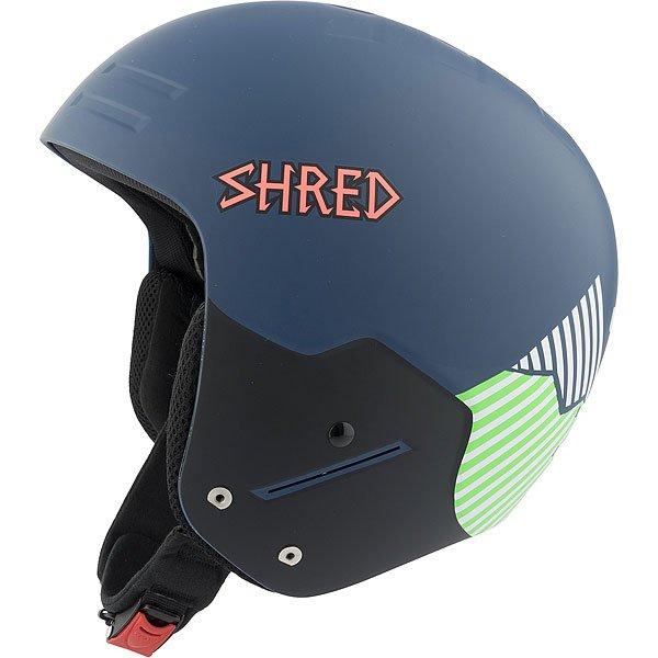 Шлем для сноуборда Shred Basher Noshock Needmoresnow Navy Blue/Green