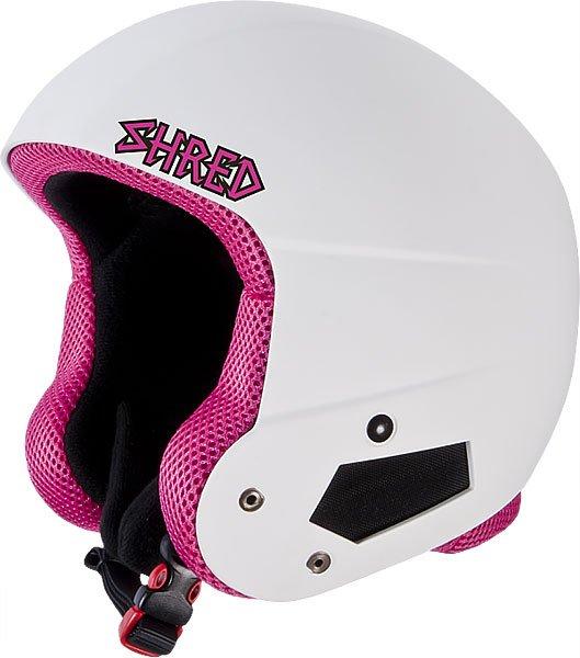 Шлем для сноуборда женский Shred Brain Bucket White/PinkПрочный женский шлем создан для райдеров, которым нужна полная защита без ущерба производительности и комфорта.Технические характеристики: Съемная подкладка и подушечки для ушей.Удобная посадка и настройка по размеру.Технология Dual Density EPS Liner разработана для поглощения ударов и защиты в ключевых зонах.Технология защиты ICEdot™ -  сервис экстренного оповещения, который синхронизирует надежный онлайн профиль с наклейкой шлема, содержащей уникальный код. Сервис отправляет уведомления о помощи в случае экстренной ситуации.Подкладка SHREDDry обеспечивает комфорт, впитывает влагу.<br><br>Цвет: розовый,белый<br>Тип: Шлем для сноуборда<br>Возраст: Взрослый<br>Пол: Женский