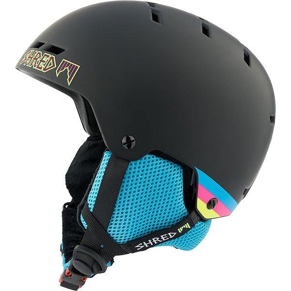 Шлем для сноуборда Shred Bumper Warm Shrasta Black<br><br>Цвет: черный,синий<br>Тип: Шлем для сноуборда<br>Возраст: Взрослый<br>Пол: Мужской
