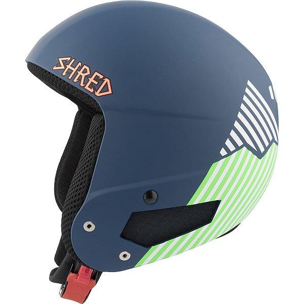 Шлем для сноуборда Shred Mega Brain Bucket Needmoresnow Navy Blue/GreenСертифицированный шлем отвечающий нормам FIS 2013 RH. Благодаря технологии SLYTECH 2ND SKiN™ шлем обладает высокой прочностью и многонаправленно рассеивает силу удара.Технические характеристики: Съемная подкладка и подушечки для ушей облегчают чистку.Съемная подкладка из гигиеничного материала X-Static.Удобная посадка и настройка по размеру.Регулируемые подушечки для ушей.Металлические пряжки с системой быстрого открывания.Технология SLYTECH NOSHOCK - специальные вставки в форме сот из твердеющего нано материала SLYTECH 2nd SKIN XT встроены во внутреннюю конструкцию шлема и абсорбируют удары, рассеивая их энергию по пластику.Технология защиты ICEdot™ -  сервис экстренного оповещения, который синхронизирует надежный онлайн профиль с наклейкой шлема, содержащей уникальный код. Сервис отправляет уведомления о помощи в случае экстренной ситуации.<br><br>Цвет: синий,зеленый<br>Тип: Шлем для сноуборда<br>Возраст: Взрослый<br>Пол: Мужской