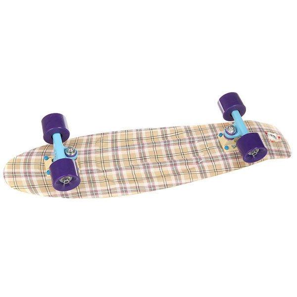 Скейт мини круизер Пластборд Casual Beige 7.25 x 27 (68.5 см)Пластборд Юнион (68.6 см) — наверное, самая «вкусная» доска в коллекции. Похожая на фруктовый леденец, эта «малышка» не должна вводить вас в заблуждение, что она детская. Пластборд подойдет и детям от 3-х лет, и взрослым, так как способен выдержать более 400 кг нагрузки, что было проверено с помощью автомобиля, переезжающего лонгборд. Прозрачная дека эффектно выглядит на солнце, а светящиеся во время движения колеса сделают ваше катание не только красивее, но и безопаснее, ведь в темное время суток вас будет видно издалека. Фишка производителя «Юнион» — влагоотталкивающие подшипники, которые благодаря смазке не боятся влажного асфальта. Если Вы привыкли к классическим скейтбордам, у вас может возникнуть вопрос: «А где же шкурка»? Функцию шкурки выполняет нестираемая гравировка, которая дает достаточное сцепление для стабильности стойки.Характеристики:Светящиеся во время движение колеса.Выдерживает более 400 кг. Пожизненная гарантия на деку от производителя.Для взрослых и детей от 3-х лет. Прогиб – прямой. Подвеска – Standart Kingpin. Подшипники – ABEC7. Колеса – 59 мм 83А. Максимальная нагрузка – 400 кг.<br><br>Цвет: бежевый<br>Тип: Скейт мини круизер