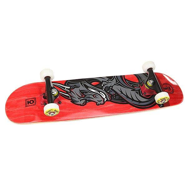 Скейтборд в сборе детский Юнион Dragon Red 28 x 7 (17.8 см)Легкая и быстрая доска с яркой графикой от Юнион. Юбилейная серия.Технические характеристики:Длина - 71 см, ширина - 17,8 см.7 слоев клена.Средний конкейв.Подшипники ABEC 7.Шкурка в комплекте.<br><br>Цвет: красный,серый,черный<br>Тип: Скейтборд в сборе детский