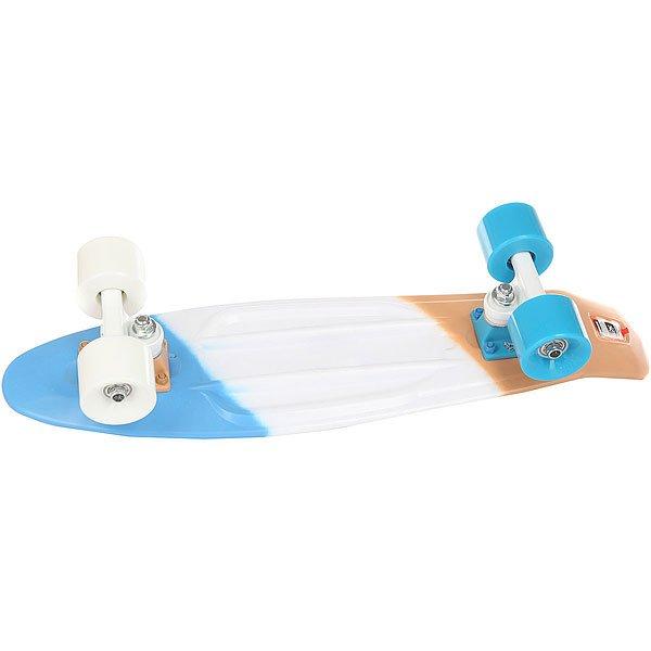Скейт мини круизер Пластборд Stand Multi 6 x 22.5 (57.2 см)Пластборд Юнион(с 2017 года бренд официально называется ПЛАСТБОРДЫ) - это пластиковый скейтборд-круизер с загнутым хвостом для передвижения по городу и фанового трюкачества. Очень прочная дека, качественные подвески, подшипники и колеса сделают вашу езду плавной и комфортной. Наличие пластиковой деки делает пластборд очень неприхотливым в использовании и легким в уходе и хранении. Дека не расслоиться, не завинтиться и не треснет. Просто протирайте ее влажной тряпкой по мере необходимости.Размер 22.5 дюйма - это классика современного пластборда. Он максимально компактен, удобен для переноски и очень маневренный. Подойдет как для детей, так и для взрослых. Характеристики:Эластичная прочная дека размером 22,5 дюйма. Новый дизайн внешнего нестирающегося цепкого покрытия. Специально разработанные подвески Вираж изалюминия с оптимальным углом поворота.Водоотталкивающие подшипники ABEC-7. Мягкие упругие колеса круизного типа Вираждиаметром 59мм с мягкостью 83А.<br><br>Цвет: белый,голубой,бежевый<br>Тип: Скейт мини круизер