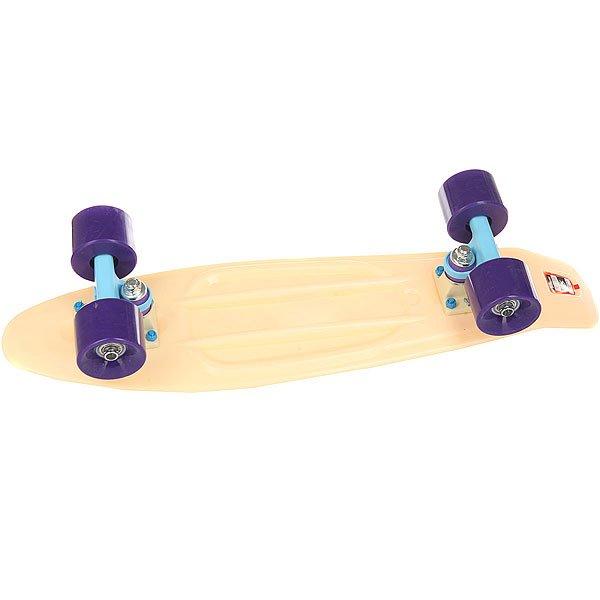 Скейт мини круизер Пластборд Sand Beige 6 x 22.5 (57.2 см)Пластборд  - это пластиковый скейтборд-круизер с загнутым хвостом для передвижения по городу и трюкачества. Очень прочная дека, качественные подвески, подшипники и колеса сделают вашу езду плавной и комфортной.Технические характеристики: Дека из прочного полиуретана повышенной прочности и эластичности.Подвески из алюминия.Бушинги Union 89А.Подшипники - Union Water Prof Abec7 (водонепроницаемая конструкция).Колеса - круизного типа Union Virage диаметром 59 мм со стандартной мягкостью 83А.Нестирающееся цепкое покрытие.Различные расцветки в ассортименте.<br><br>Цвет: бежевый<br>Тип: Скейт мини круизер