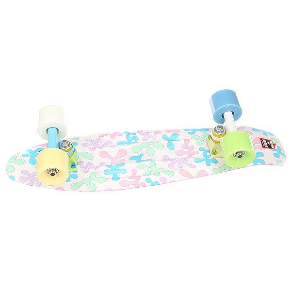 Скейт мини круизер Пластборд Dots White/Multi 6 x 22.5 (57.2 см)<br><br>Цвет: белый,мультиколор<br>Тип: Скейт мини круизер