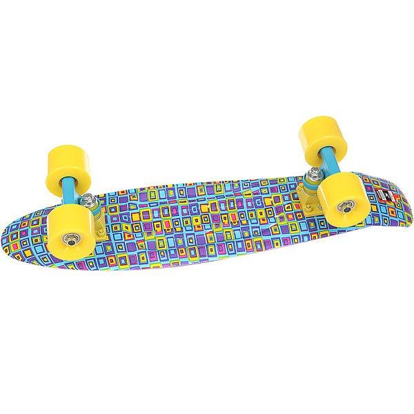 Скейт мини круизер Пластборд Jeans Blue 6 x 22.5 (57.2 см)Пластборд  - это пластиковый скейтборд-круизер с загнутым хвостом для передвижения по городу и трюкачества. Очень прочная дека, качественные подвески, подшипники и колеса сделают вашу езду плавной и комфортной.Технические характеристики: Дека из прочного полиуретана повышенной прочности и эластичности.Подвески из алюминия.Бушинги Union 89А.Подшипники - Union Water Prof Abec7 (водонепроницаемая конструкция).Колеса - круизного типа Union Virage диаметром 59 мм со стандартной мягкостью 83А.Нестирающееся цепкое покрытие.Различные расцветки в ассортименте.<br><br>Цвет: мультиколор,синий<br>Тип: Скейт мини круизер