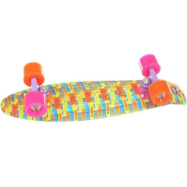 Скейт мини круизер Пластборд Sun Multi 6 x 22.5 (57.2 см)Пластборд  - это пластиковый скейтборд-круизер с загнутым хвостом для передвижения по городу и трюкачества. Очень прочная дека, качественные подвески, подшипники и колеса сделают вашу езду плавной и комфортной.Технические характеристики: Дека из прочного полиуретана повышенной прочности и эластичности.Подвески из алюминия.Бушинги Union 89А.Подшипники - Union Water Prof Abec7 (водонепроницаемая конструкция).Колеса - круизного типа Union Virage диаметром 59 мм со стандартной мягкостью 83А.Нестирающееся цепкое покрытие.Различные расцветки в ассортименте.<br><br>Цвет: мультиколор<br>Тип: Скейт мини круизер