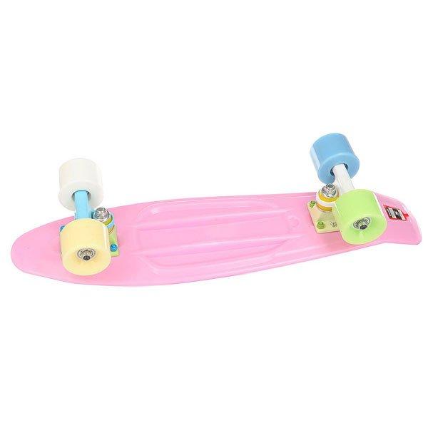 Скейт мини круизер Пластборд Barberry Pink 6 x 22.5 (57.2 см)Пластборд  - это пластиковый скейтборд-круизер с загнутым хвостом для передвижения по городу и трюкачества. Очень прочная дека, качественные подвески, подшипники и колеса сделают вашу езду плавной и комфортной.Технические характеристики: Дека из прочного полиуретана повышенной прочности и эластичности.Подвески из алюминия.Бушинги Union 89А.Подшипники - Union Water Prof Abec7 (водонепроницаемая конструкция).Колеса - круизного типа Union Virage диаметром 59 мм со стандартной мягкостью 83А.Нестирающееся цепкое покрытие.Различные расцветки в ассортименте.<br><br>Цвет: розовый<br>Тип: Скейт мини круизер