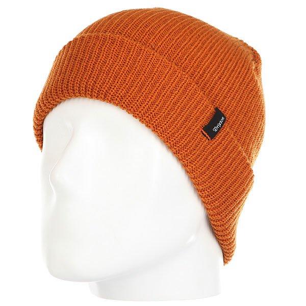 Шапка Brixton Heist Beanie Burnt Orange<br><br>Цвет: Темно-оранжевый<br>Тип: Шапка<br>Возраст: Взрослый<br>Пол: Мужской