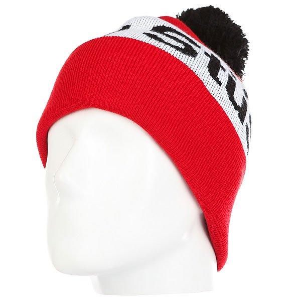 Шапка Stussy Helvetica Pom Beanie Red<br><br>Цвет: белый,черный,красный<br>Тип: Шапка<br>Возраст: Взрослый<br>Пол: Мужской