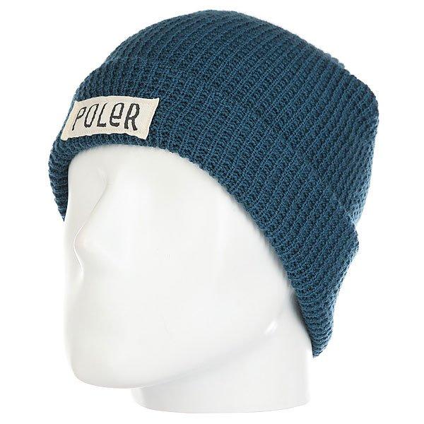 Шапка Poler Workerman Beanie Blue<br><br>Цвет: синий<br>Тип: Шапка<br>Возраст: Взрослый<br>Пол: Мужской