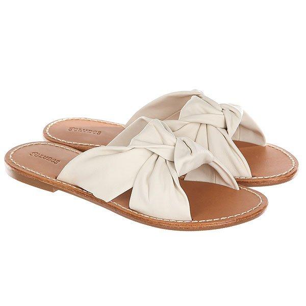 Шлепанцы женские Soludos Knotted Slide Sandal Ivory<br><br>Цвет: бежевый,коричневый<br>Тип: Шлепанцы<br>Возраст: Взрослый<br>Пол: Женский