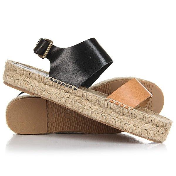 Сандалии женские Soludos Bi-color Platform Sandal Nude/Black<br><br>Цвет: черный,Светло-коричневый<br>Тип: Сандалии<br>Возраст: Взрослый<br>Пол: Женский